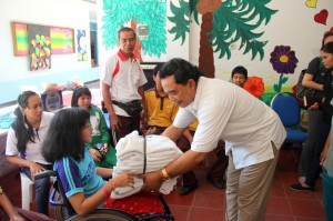 Grand Mirage Resort & Thalasso Bali handed the donations to YPAC
